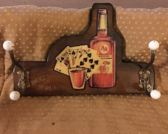 Vintage Bar Sign Rack. Kentucky Bourbon. Bruce's Place
