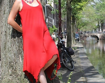 "Dress and tank top ""Calla"" (2 in 1) - viscose jersey - Red"