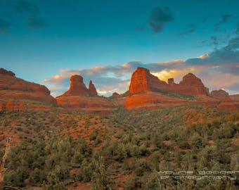 Sedona Mogollon Rim, Landscape Photography, Home Decor, Wall Art, Gift, Sunset Arizona