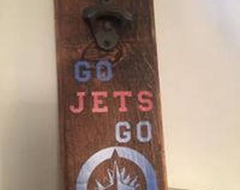 Winnipeg Jets Beer Bottle Opener