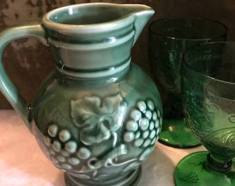 Vintage green jug