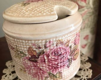 Vintage Sylva Ceramics handcrafted in Staffordshire preserve pot