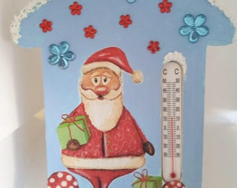 special thermometer Christmas decoupage and painting technique