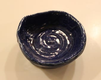 Handmade blue clay pot