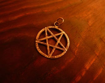 "Sterling silver pendant ""Pentagram"""