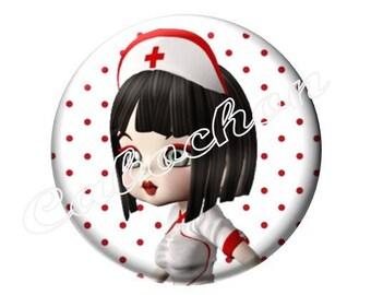 1 cabochon 30mm glass, nurse