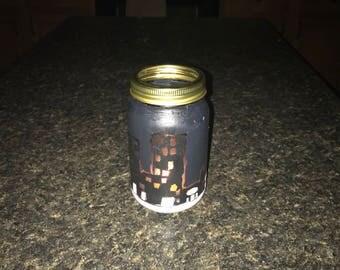 City lights in a jar (night light)
