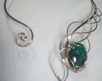 Necklace with Chrysocolla of Peru