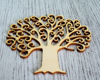 tree of life 15 x 14 cm 1068 a cut wood for your creation