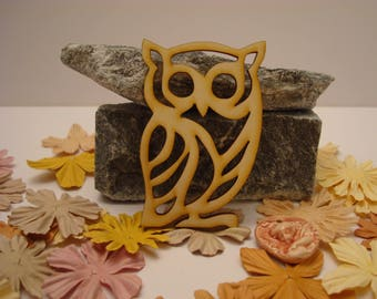 OWL 02071 embellishment wooden creations