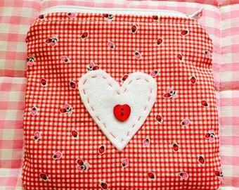 Multi-purpose purse, wallet, coin pouch - Strawberry print