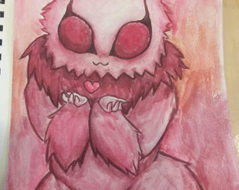 Watercolor painting- Moth love