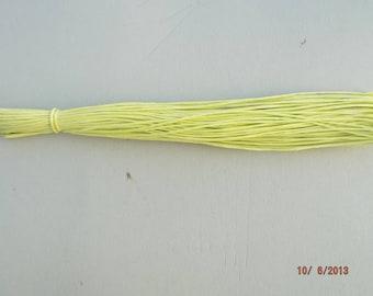 light green natural color raffia skein of 18 meters