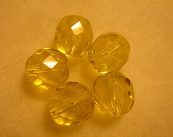 5 faceted Crystal 8 mm JONQUIL AB jewelry creations