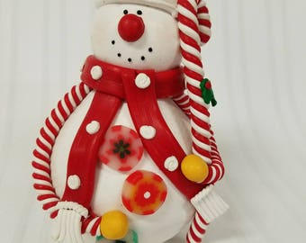 Candy-cane Snowman