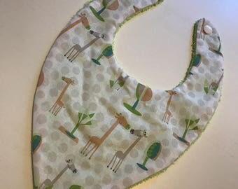 Bandana bib Terry cloth and cotton