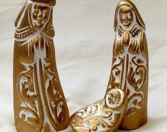 Golden Christmas santons