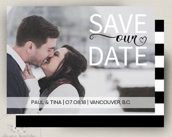 Save Our Date Template, Save Our Date Instant Download, Save Our Date Card, Printable Save Our Date, Wedding Announcement, PSD Template