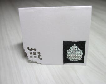 "Mini Card mark up embroidered ""Beaded ornament"""