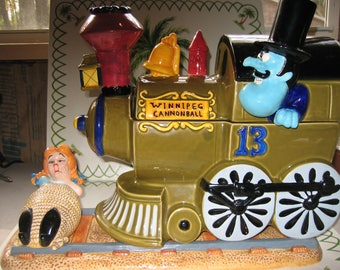 Snidely Whiplash and Nell Cookie Jar
