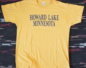 Screen Stars Vintage 80's Howard Lake Minnesota T-shirt Large