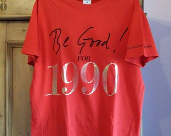 Moschino red T-shirt Christmas and New Year 1989 - REDUCED!