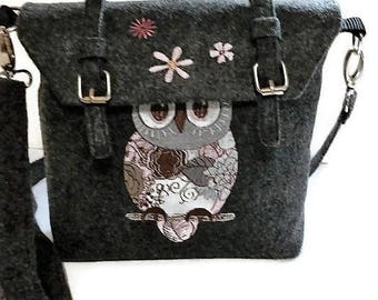 Owl Handbag Crossbody Purse