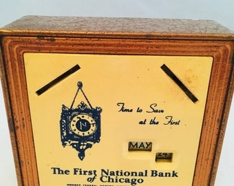 1950's Coin Bank The First National Bank of Chicago