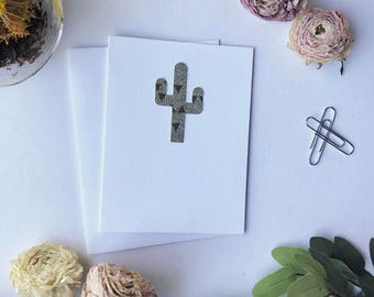 Blank Cactus Greeting Card