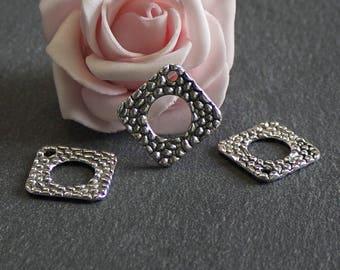 x 10 charms diamond combines antique silver 22 x 22 mm BRA196
