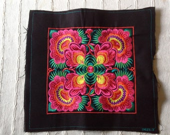 Hand Embroidered Hmong Fabric, Hmong Fabric Hill Tribe, Hmong Hill Tribe Embroidered, Thai Hill Tribe, Hmong Textile, Hill Tribe Handmade.