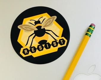 Resist for Bees Sticker