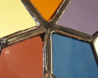 stained glass star ornament