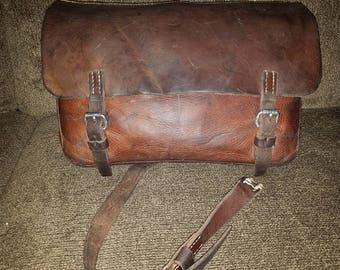 Swiss Army Leather saddlebag