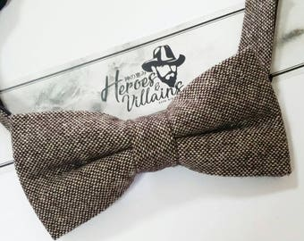Copper brown bow tie,brown wool bow tie,wedding bow ties, dapper bow ties,groomsmen bow tie,floral bow tie,wool bow tie,wool bow ties