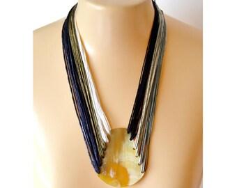 Necklaces - Silk Yarn Necklace