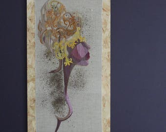 contemporary hand embroidered picture