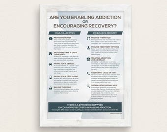 Enabling Addiction or Encouraging Recovery Poster