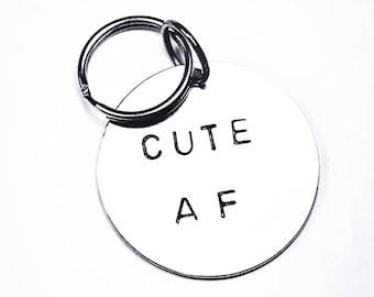Cute AF Hand Made Dog Collar Tag