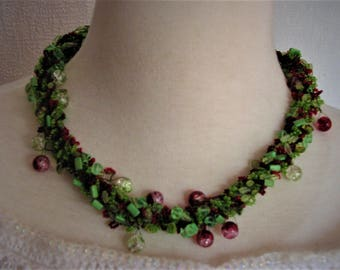 Necklace Spring, handmade necklace, necklace for women