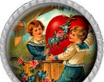Cabochon pendant - Messengers of the heart (186)