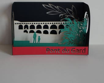 The Pont du Gard postcard 3D card