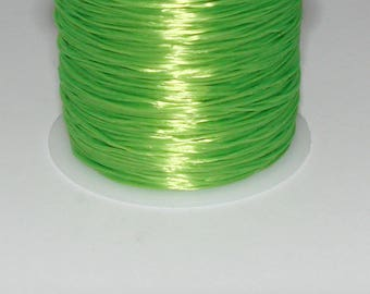 3 m elastic green neon 0.8 mm thick