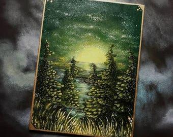 Acrylic Landscape Painting Original - Minnesota Sunrise