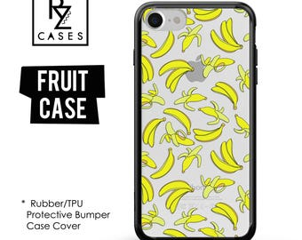 Banana Phone Case, Summer Case, Bananas iphone Case, Fruit Phone Case, iPhone 7, iPhone 6, iPhone 7 Plus, Rubber Case, Bumper Case