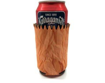 Brown Bag Can Cooler Beverage Insulator