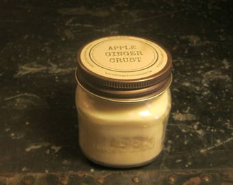 APPLE GINGER CRUST // Soy Candle // Wood Wick // Mason Jar