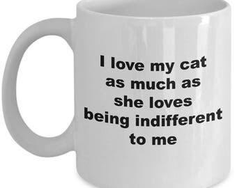 Cat Themed Coffee Mug: I love my cat