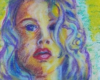Original Oil Pastel,