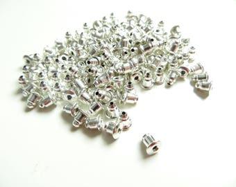 100 caps stopper silver rubber